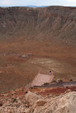 Meteor crater Stock Image