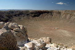 Meteor crater Royalty Free Stock Photography