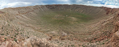 Meteor Crater, also known as Barringer Crater is a meteorite impact  crater Royalty Free Stock Image
