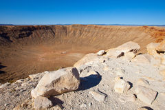 Meteor Crater Arizona. Meteor Crater in Arizona, US.  This is where a meteor hit the earth Royalty Free Stock Photo