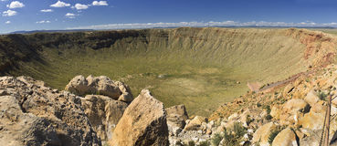 Meteor Crater in Arizona. The Barringer Meteorite Crater, the famous Arizona meteor crater, Arizona, USA Stock Image