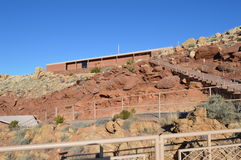 Meteor Crater Arizona Building. Meteor Crater building in Arizona with walkway and looking platform Stock Image
