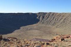 Meteor Crater Arizona. Giant Meteor Crater in Arizona royalty free stock photography
