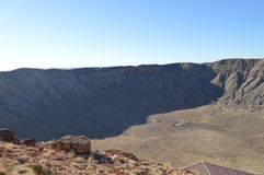 Meteor Crater Arizona. Giant Meteor Crater in Arizona Royalty Free Stock Photos