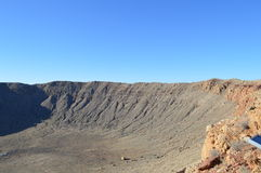 Meteor Crater Arizona. Giant Meteor Crater in Arizona Royalty Free Stock Photo