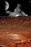 Meteor crater in Arizona Royalty Free Stock Image