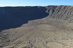 Meteor Crater Arizona. Side and Floor Giant Meteor Crater in Arizona Royalty Free Stock Images