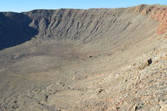 Meteor Crater Arizona. Side and Floor Giant Meteor Crater in Arizona Stock Photography