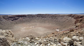 Meteor Crater Stock Photography