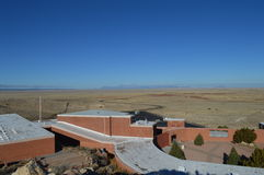 Meteor Crater Visitors Center Arizona. With Desert View Royalty Free Stock Photos