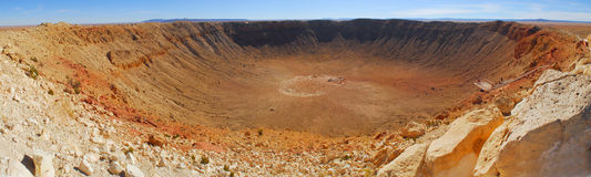 Meteor Crater in Winslow Arizona. Panoramic view of Meteor Crater located in Winslow Arizona Royalty Free Stock Photography