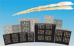 Meteor in der Atmosphäre Stockfotografie