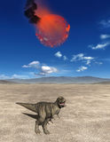 Meteor, End of the Dinosaurs Illustration Royalty Free Stock Image
