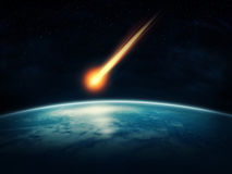Meteor. Flying to the earth stock photos