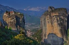 Meteor, Grecja i Kalambaka, - monaster Święta trójca Fotografia Royalty Free