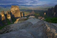 Meteor, Grecja - monasteru święty Nicholas Anapausas, Roussanou monaster Fotografia Royalty Free