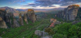Meteor, Grecja - wiosny panorama Fotografia Royalty Free