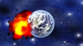 Meteor impact Stock Image