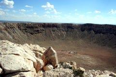 Meteor-Krater Stockbild