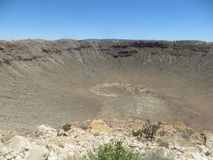 Meteor-Krater Lizenzfreie Stockfotos