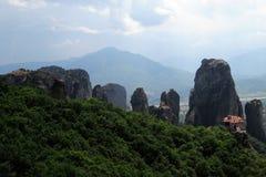 Meteor, monastery na skałach w Grecja Zdjęcie Stock
