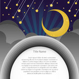Meteor night background with empty space for sample text . Stock Photo
