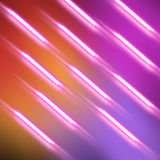 Meteor Rain. Abstract background with glowing slanting stripes. blurring the lines simulates movement. glowing lines on a diagonal like a fly, muted background Stock Image