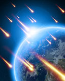 Meteor shower Stock Image