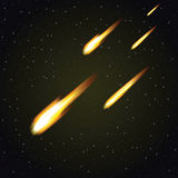 Meteor shower and dark space in background () Stock Photos