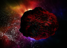 Meteor in space Stock Images