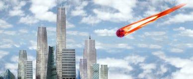 meteor uderzył w Fotografia Stock