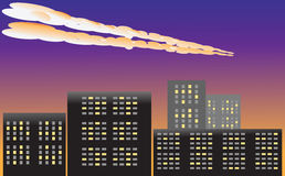 Meteor w atmosferze Fotografia Royalty Free