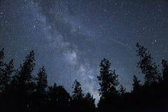 Meteor z Milky sposobem Zdjęcie Stock