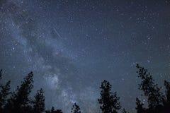 Meteor z Milky sposobem Obrazy Royalty Free