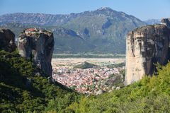 Meteora在希腊 免版税库存照片
