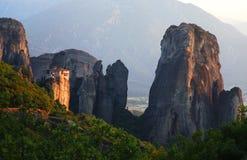 Meteora在希腊 库存图片