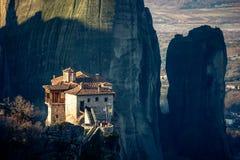 meteora的希腊一个修道院 免版税图库摄影