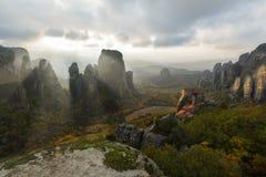 Meteora - και Θεός εν λόγω να είστε αφημένο φως εκεί Στοκ Εικόνα