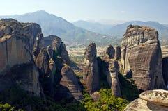 Meteora - κοιλάδα των μοναστηριών. Στοκ Εικόνες