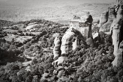 Meteora. Landscape at Meteora Monasteries in Trikala region, Greece Stock Image