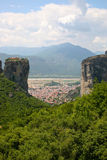 Meteora. 's landscape, with isolated monasteries on top of rocks Stock Photo