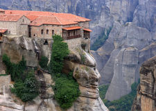 Meteora. Monasteries in the centre of Greece Royalty Free Stock Photos