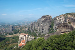 Meteora. The Meteora is one of the largest and most important complexes of Eastern Orthodox monasteries in Greece, second only to Mount Athos Stock Photography