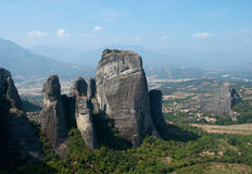 Meteora. The Meteora is one of the largest and most important complexes of Eastern Orthodox monasteries in Greece, second only to Mount Athos Royalty Free Stock Photo