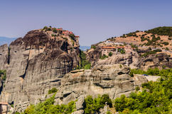 Meteora. Plain of Thessaly , Kalambaka , Greece 2012 , top of the cliffs Stock Photo