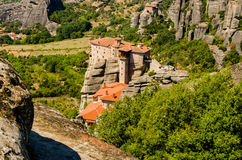 Meteora. Plain of Thessaly , Kalambaka , Greece 2012 , top of the cliffs Stock Images