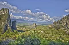Meteora. The rocks of Meteora in Greece stock images