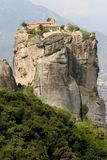 Meteora 5. Abbey, above, acropolis, alone, athena, athene, atop, cell, chant, cloister, god, greece, greek, heavens, hermit, high, klooster, meteora, monastery Stock Photography