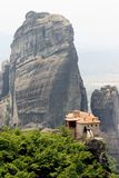 Meteora 6. Abbey, above, acropolis, alone, athena, athene, atop, cell, chant, cloister, god, greece, greek, heavens, hermit, high, klooster, meteora, monastery Stock Image