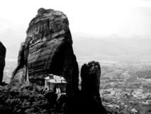 Meteora. Bw royalty free stock photos